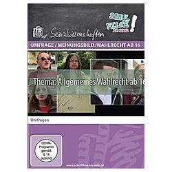 Umfrage / Meinungsbild: Wahlrecht ab 16, 1 DVD