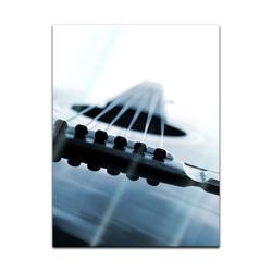 Bilderdepot24 Glasbild, Glasbild - Gitarrenkorpus 60 cm x 80 cm