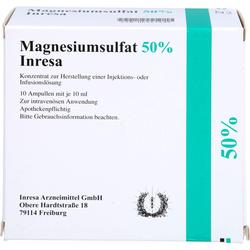 MAGNESIUMSULFAT 50% Inresa Konz.z.H.e.Inj.-/Inf.L. 100 ml