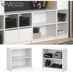 Vicco Kleiderschrank GUEST - Kommode Schrank zweigeteilt Sideboard Regal