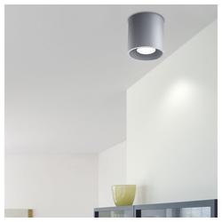 etc-shop LED Einbaustrahler, Aufbauleuchte Deckenstrahler GU10 Aufbaustrahler Aufputz Deckenlampe Aufbauspot, Aluminium grau, DxH 10x10 cm, Esszimmer