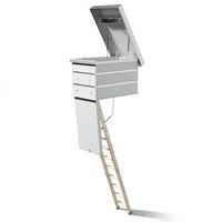 DOLLE Flachdachausstieg mit Bodentreppe clickFIX 3-teilig 120x70cm mit U-Wert 0,49 Konstruktionshöhe 52,6-76,7cm