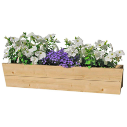 Outdoor Life Products Blumenkasten, B: 130 cm, Fichtenholz
