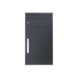 SafePost Briefkasten Paketbriefkasten SafePost 65M anthrazit Ral 7016 Design-Paketkasten modern