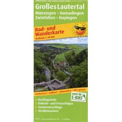 Großes Lautertal Münsingen - Gomadingen - Zwiefalten - Hayingen 1:35 000