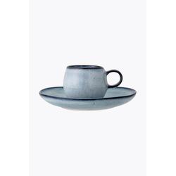 Bloomingville Sandrine Espresso Tasse mit Untertasse Blau