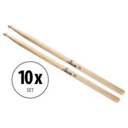 10 Paar XDrum Schlagzeug Sticks 5B Wood Tip