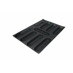 SCHNEIDER AIR Mini Baguette Backform, Gebäckform für Baguette, wie auch Feingebäck, Durchmesser: 230 x 64 mm