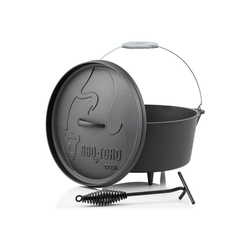 BBQ-Toro Feuertopf BBQ-Toro Dutch Oven DO9A, 7,2 L Alpha Gusseisen Kochtopf, Gusstopf