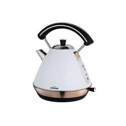 Schäfer Elektronik Wasserkocher Wasserkocher EDS 1,7 Liter 2200W, 1.7 l, 2200 W weiß