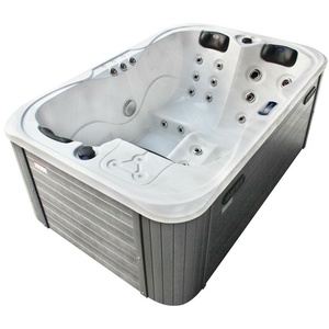Outdoor Whirlpool mit Heizung LED Ozon Treppe Hot Tub Spa für 3 Personen 195x127