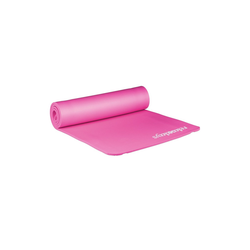 relaxdays Yogamatte Yogamatte 1 cm dick einfarbig rosa