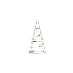 Casa Nova Teelichthalter Pyramide in gold, 31 x 68 x 12 cm