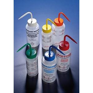 """SCILABWARE 001367 LDPE Waschflasche 500 ml Weithals bedruckt""""Destilliertes Wasser"""" (5 Stück)"""
