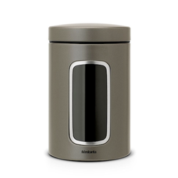 Brabantia Aufbewahrungsdose mit Fenster 1.4 L Platinum