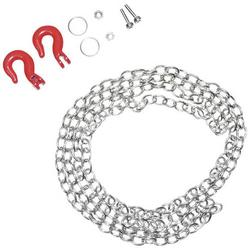 Absima 1:10 Stahlkette mit Schwerlasthaken Silber-Rot