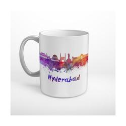 DesFoli Tasse Skyline Hyderabad Wasserfarben T0169, Keramik