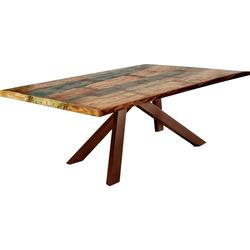 SIT Esstisch Tops&Tables, mit bunter Altholzplatte, Shabby Chic, Vintage bunt 160 cm x 74 cm x 85 cm