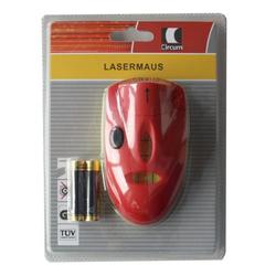 dynamic24 Laserwasserwaage, Lasermaus Wasserwaage Linienlaser + Batterien Messgerät Horizontal Laser Messer