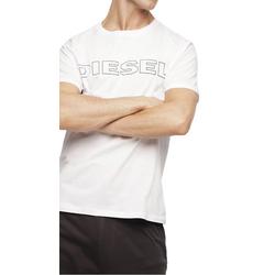 Diesel Unterhemd Herren T-Shirt, UMLT-JAKE HEMD, Rundhals, Print, weiß XL