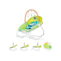 Chipolino Babywippe Babywippe Fiesta, mit Spielbogen, Musik und Vibration grün