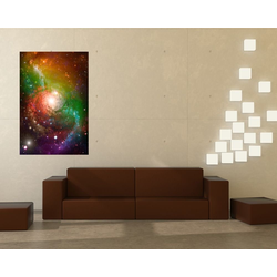 Bilderdepot24 Fototapete, Fototapete Spiral Galaxie, selbstklebendes Vinyl bunt 0.9 m x 1.35 m