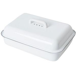 Riess Frischhaltedose Brotdose mit Deckel classic weiß, Emaille