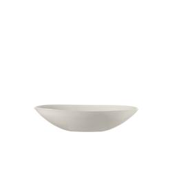 Glas Koch Schale oval Alabastro in weiß, 32 cm