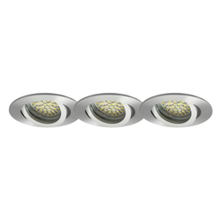 LED Einbaustrahler 3er-SET MR16, GU5.3, 12V, warmweiß, rund 5W Marken-LEDs