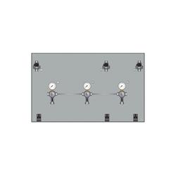 ich-zapfe Bierzapfanlage Montagetafeln mit Absperrhahn, aus Chromnickelstahl, Montagetafeln-1:2-leitig 470 x 470 mm,Montagetafeln-2:10 mm
