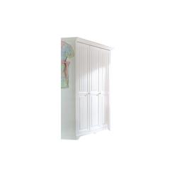 Begabino Kleiderschrank Cinderella Premium in Kiefer weiß lackiert massiv, Breite ca. 171 cm