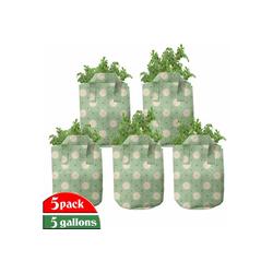 Abakuhaus Pflanzkübel hochleistungsfähig Stofftöpfe mit Griffen für Pflanzen, Floral Frühling Pflanzen Yard 28 cm x 28 cm