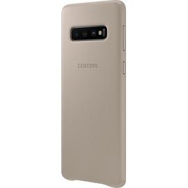 Samsung Leather Cover EF-VG973 für Galaxy S10 grau