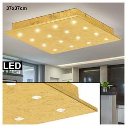 EGLO LED Panel, LED Decken Leuchte Schlaf Gäste Zimmer Beleuchtung GOLD Panel Lampe Eglo 39056