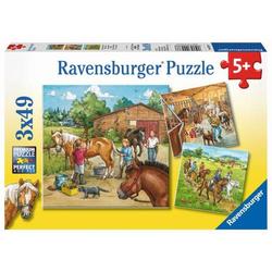 Ravensburger 09237 Puzzle Mein Reiterhof 3 x 49 Teile 9237