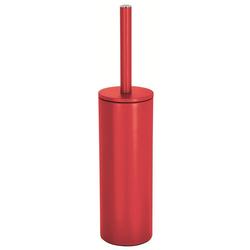 spirella Toilettenpapierhalter WC-Bürste AKIRA, Toilettenbürste mit hygienischem Innenbehälter, mit Deckel, matt-satiniert, rot rot