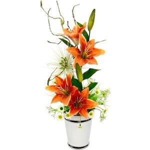 Kunstpflanze Lilien, I.GE.A., Höhe 53 cm orange