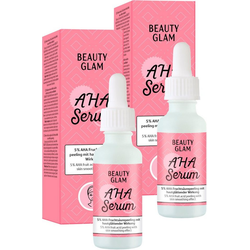 BEAUTY GLAM Gesichtspflege-Set AHA Serum, 2-tlg.