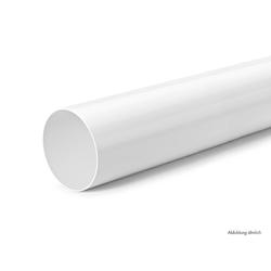 Rundrohr 125, Lüftungsrohr, weiß, L 900 mm