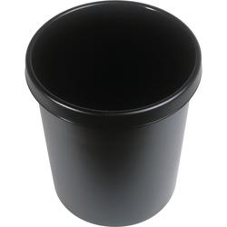 Helit Papierkorb mit Rand 30 L schwarz