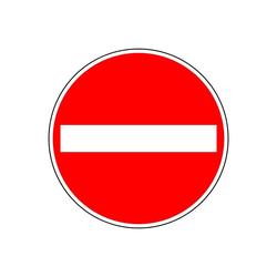 TRIZERATOP Werkzeug Verkehrszeichen Ronde 267 Verkehrsschild Verbot