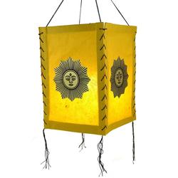Guru-Shop Deckenleuchten Lokta Papier Hänge Lampenschirm, Deckenleuchte.. 20 cm x 35 cm x 20 cm
