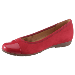 Gabor Ballerina im modischen Materialmix rot 38,5