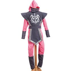 Kostüm Ninja Nagato rosa/grau Gr. 128/140 Mädchen Kinder