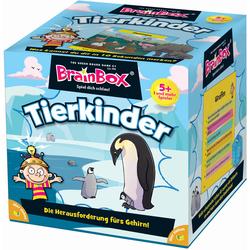 BrainBox Spiel BrainBox, Tierkinder bunt Kinder Denkspiele Gesellschaftsspiele