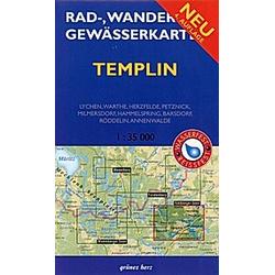 Rad-  Wander- und Gewässerkarte Templin - Buch