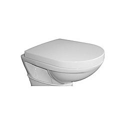 VCM WC Sitz Toilettendeckel Deckel Brille Toilettensitz Klositz Klodeckel Padua Klobrille Klo Toilette VCM WC-Sitz Deckel (Farbe: Weiß)