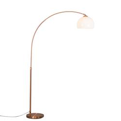 Moderne Bogenlampe Kupfer mit weißem Lampenschirm - Arc Basic