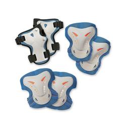 Hudora Protektoren-Set Protektoren-Set, 6-tlg. blau 140-152
