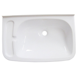 Lilie Waschbecken mit Seifenablage, 460 × 295 × 110 mm